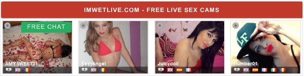 Find hot girls to chat with for free on IMWETLIVE.com